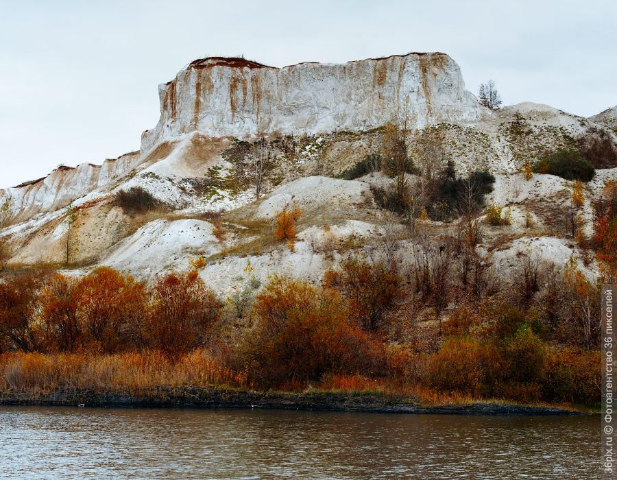 Склоны карьера Белый колодец. Воронежская область
