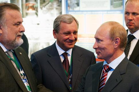 В.В. Путин на авиасалоне МАКС-2011