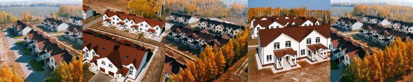 Загородный поселок с высоты