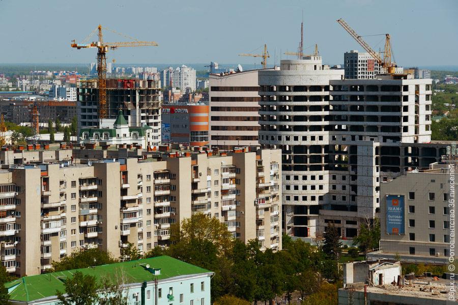 Стройки в центре Воронежа