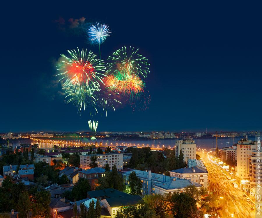 Фейерверк 9 мая в Воронеже