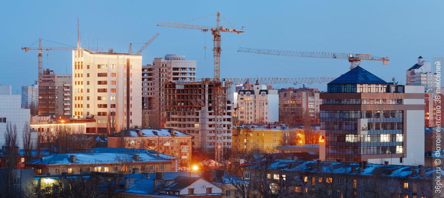 Стройка в центре Воронежа
