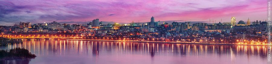 Панорама вечернего Воронежа
