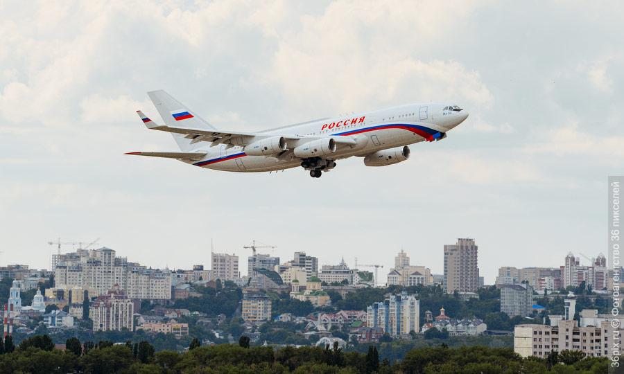 Взлет Ил-96-300 а/к Россия с аэродрома ВАСО