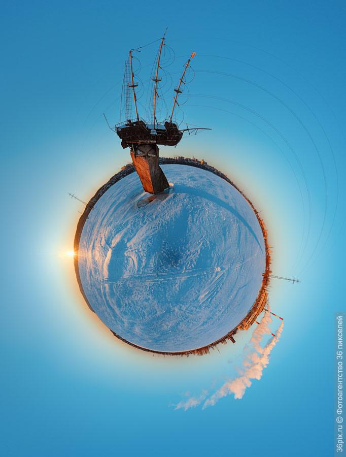 Панорама фрегата «Меркурий». Воронеж
