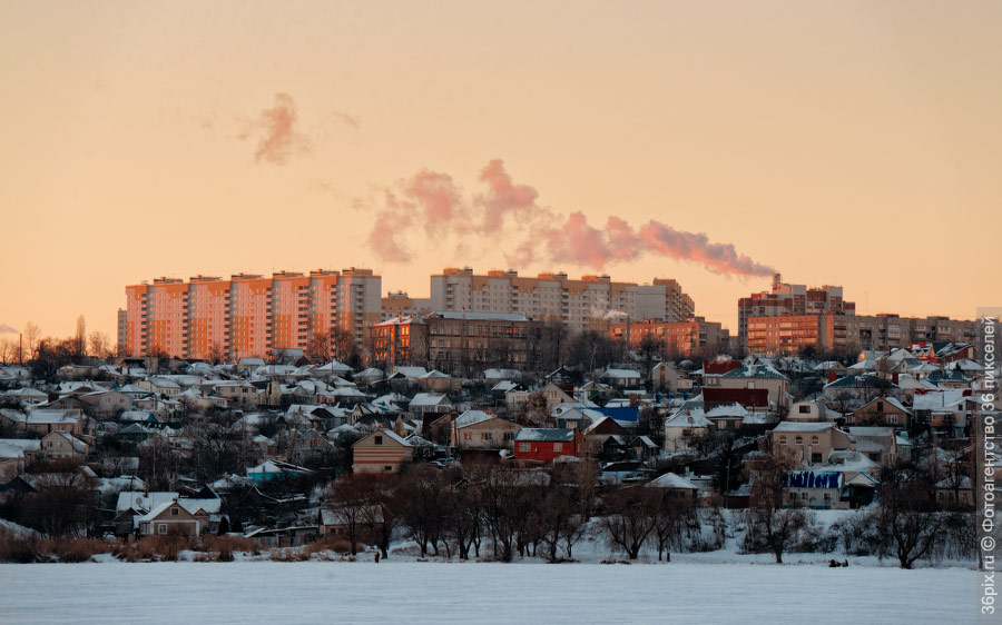 Частный сектор на правом берегу Воронежа