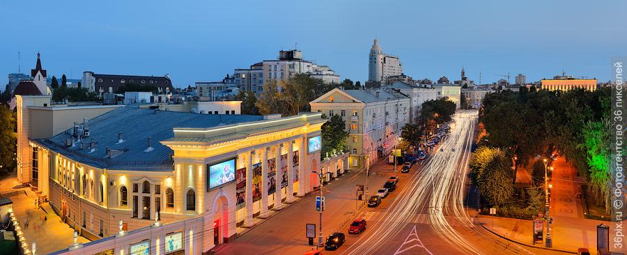 Кинотеатр Спартак и Кольцовский сквер
