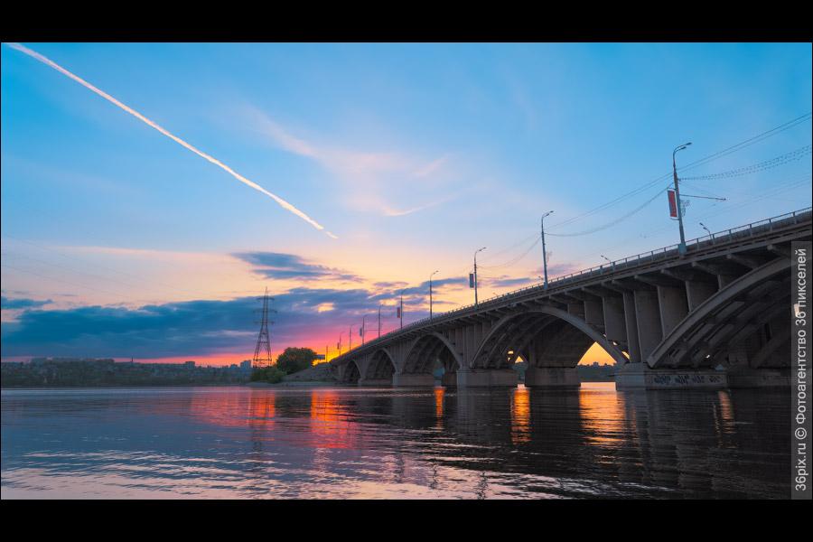 Закат в Воронеже. Мост ВоГРЭС