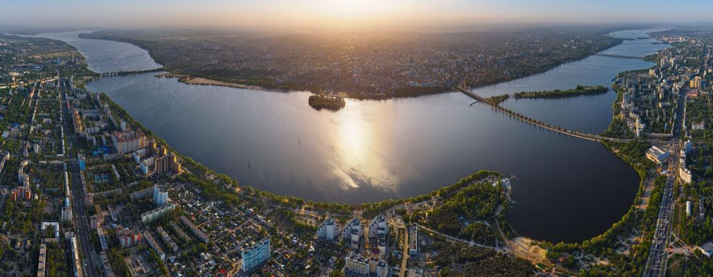 Воронеж с большой высоты